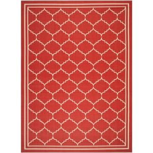 Safavieh Courtyard Red/Beige 6.6 ft. x 9.5 ft. Area Rug CY6889 248 6