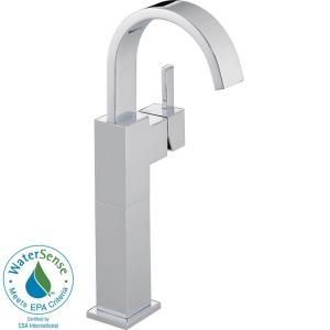 Delta Vero Single Hole 1 Handle High Arc Bathroom Faucet in Chrome 753LF
