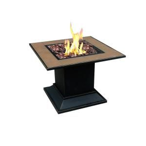 Carnegie Propane Gas Fire Pit in Steel Finish DISCONTINUED 66038