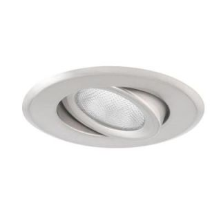 Globe Electric 5 in. Recessed Brushed Nickel Light Fixture 90030