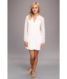 DV by Dolce Vita Long Sleeve Drop Waist Dress Womens Dress (White)