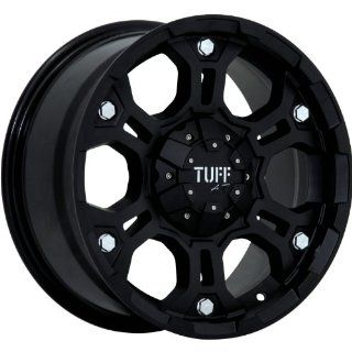 Tuff T03 15 Flat Black Wheel / Rim 6x5.5 with a  13mm Offset and a 108.0 Hub Bore. Partnumber T03DK6M13O108 Automotive