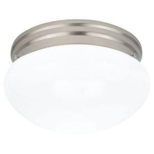 Sea Gull Lighting Webster 2 Light Brushed Nickel Flush Mount Fixture 5328 962