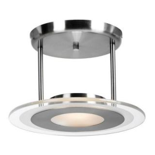 Illumine 1 Light Brushed Steel Semi Flush Mount with Clear Glass CLI CE 0481 7 23