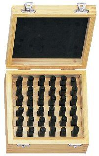 "Number & Capital Letter Punch Set In Wooden Case 36 Pc (2mm 5/64"")   Tile Cleaners"