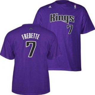 NBA Men's Sacramento Kings Jimmer Fredette #7 Name & Number Tee (Purple, Small)  Sports Fan T Shirts  Clothing
