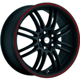 Focal F 16 17 Black Red Wheel / Rim 5x120 & 5x112 with a 42mm Offset and a 74 Hub Bore. Partnumber 163 7722B Automotive