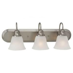Sea Gull Lighting Windgate 3 Light Brushed Nickel Vanity Fixture 44941 962