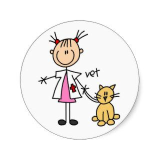 Veterinarian Stick Figure Sticker
