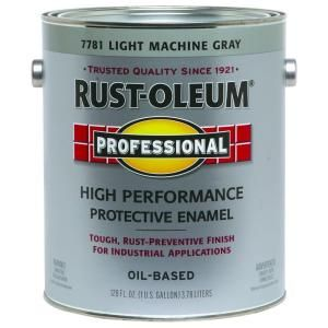 Rust Oleum Professional 1 gal. Light Machine Gray Gloss Protective Enamel (2 Pack) 7781402