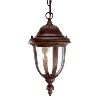 Acclaim Lighting Monterey Collection Hanging Lantern 1 Light Outdoor Burled Walnut Light Fixture 3512BW