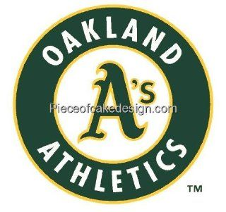 MLB Oakland Athletics ~ Edible Cake Image Topper