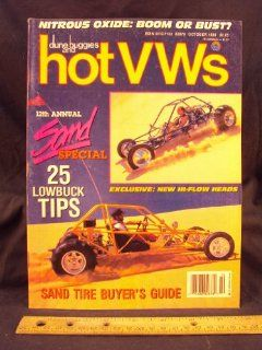1989 89 OCT October DUNE BUGGIES and HOT VWs Magazine, Volume 22 Number # 10 Wright Publishing Company Books