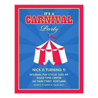 Circus / Carnival Birthday Party Invitation
