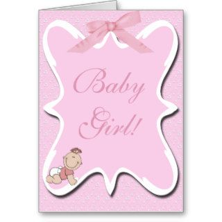Pink Bow Baby Note Card 2