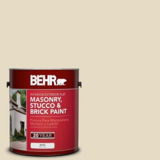BEHR Premium 1 gal. #MS 40 Navajo White Flat Interior/Exterior Masonry, Stucco and Brick Paint 27001