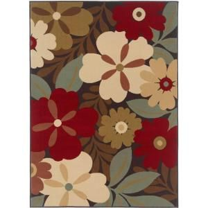 Tayse Rugs Laguna Multi 5 ft. x 7 ft. Contemporary Area Rug 4520  Multi  5x7