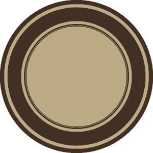 Panache Noble Beige/Chocolate 7 ft. 7 in. Round Indoor and Outdoor Rug DISCONTINUED 3108.53.72