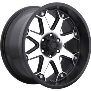 Ultra Bolt 17 Machined Black Wheel / Rim 8x6.5 with a 20mm Offset and a 125 Hub Bore. Partnumber 198 7882U Automotive