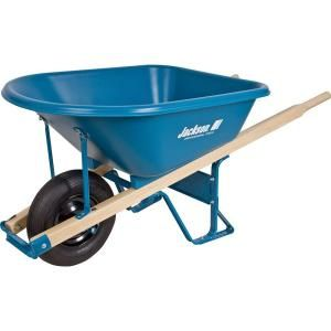 Jackson 5.75 cu. ft. Heavy Duty Corrosion Proof Poly Wheelbarrow MP575T22BB