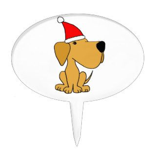 XX  Labrador Retriever Dog Christmas Cartoon Cake Toppers