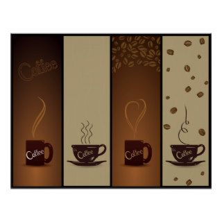 Coffee Cups & Beans   Various sizes available Print