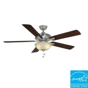Hampton Bay Larson 52 in. Brushed Nickel Ceiling Fan AL420 BN