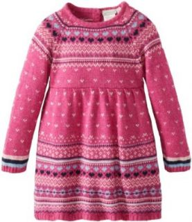 JoJo Maman Bebe Baby Girls' Cashmere Fairisle Dress   Raspberry   6 12 Months Clothing