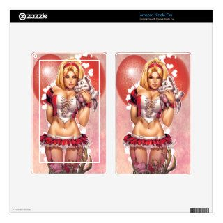 Alice In Wonderland #2 Valentines Day Love Cover Kindle Fire Skin