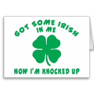 Funny Irish Pregnant Maternity Gift Greeting Cards