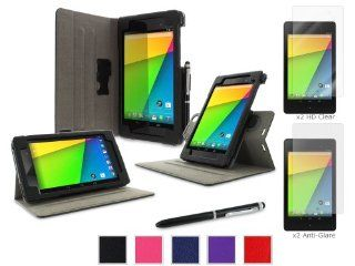 rooCASE Google Nexus 7 FHD Case   Dual View Multi angle Stand Cover with x2 Anti Glare x2 HD Clear Screen Protectors   BLACK (With Auto Wake / Sleep Cover) Baby