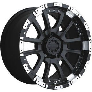 Advanti Racing Roccia 18x9 Black Wheel / Rim 6x5.5 with a 0mm Offset and a 106.10 Hub Bore. Partnumber 74MB RC89639005 Automotive