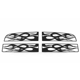 Ferreus Industries   2009 2012 Dodge Ram Flame Black Powdercoat Grille Insert   TRK 116 05black Automotive