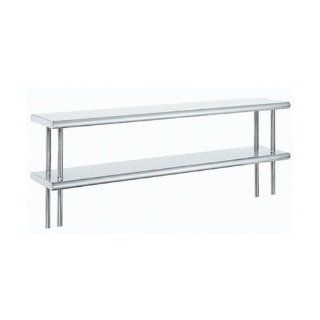 "Advance Tabco ODS 10 132R 10"" X 132"" Table Rear Mounted Double Deck Stainless Steel Shelving Unit"