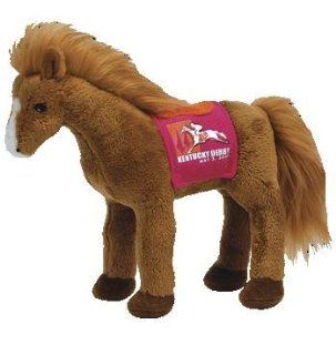 TY Beanie Baby   DERBY 134 the Kentucky Derby Horse (Red Version) Toys & Games