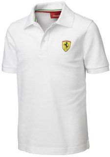 Official Licensed Ferrari Kids Cotton White Polo Shirt Size 164  Sports Fan Polo Shirts  Sports & Outdoors