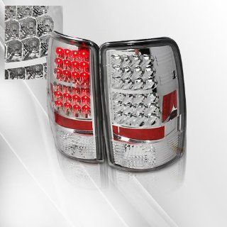Chevy Suburban Tahoe / GMC Denali, XL, Yukon Denali 00 01 02 03 04 LED Tail Lights ~ pair set (Chrome) Automotive