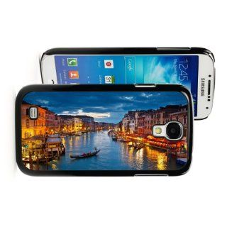 Samsung Galaxy S4 Black JB161 Hard Back Case Cover Color Grand Canal in Venice at Night Cell Phones & Accessories