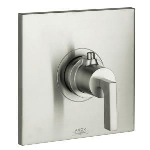 Hansgrohe Axor Citterio 1 Handle Thermostatic Valve Trim Kit in Brushed Nickel (Valve Not Included) 39711821