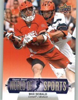 2011 Upper Deck World of Sports Baseball Trading Card #187 Max Seibald   Cornell Big Red (Lacrosse) Sports Collectibles