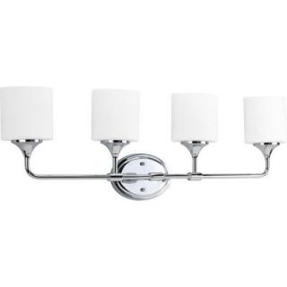Progress Lighting Lynzie Collection Chrome 4 light Vanity Fixture P2804 15