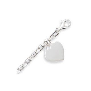 Sterling Silver 1.9mm Heart Charm Bracelet   8.5 Inch West Coast Jewelry Jewelry