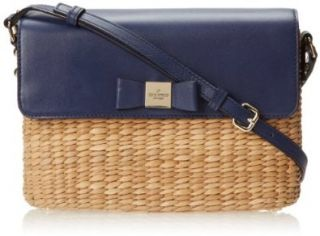 kate spade new york Vita Limoni Clara Cross Body Bag,Natural/French Navy,One Size Shoes