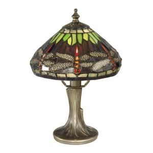 Dale Tiffany 11 in. Dragonfly Antique Bronze Table Lamp 7601/521