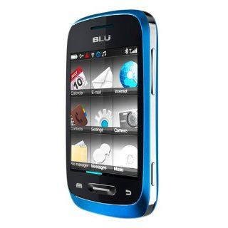 BLU S231T BLUE Neo TV Unlocked Quad B/Dual SIM Phone with 2.8 Inch Touchscreen/1.3MP Camera/ Player/Bluetooth   US Warranty   Blue Cell Phones & Accessories