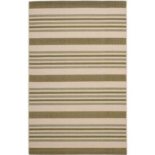 Safavieh CY7062 234A18 Courtyard Collection Indoor/Outdoor Area Rug, 4 Feet by 5 Feet 7 Inch, Beige and Green