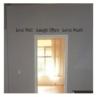 Live well Laugh often Love Much vinyl wall art sayings decor lettering [Kitchen]   Wall Decor Stickers