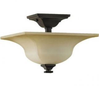 Murray Feiss SF236ORB American Foursquare 4 Light Semi Flush Ceiling Fixture, Oil Rubbed Bronze   Semi Flush Mount Ceiling Light Fixtures