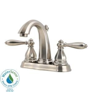 Pfister Portola 4 in. 2 Handle High Arc Bathroom Faucet in Brushed Nickel GT48 RP0K