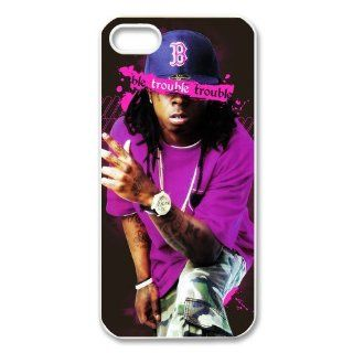 "DiyPhoneCover Custom American Rap Singer ""Lil Wayne"" Printed Hard Protective White Case Cover for Apple iPhone 5 DPC 2013 14121 Cell Phones & Accessories"